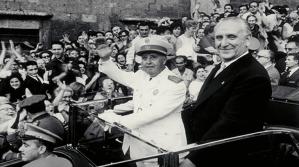Josep Maria de Porcioles - alcalde Barcelona- Franco